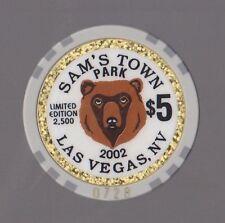 2002 SAM'S TOWN Park LAS VEGAS, NV $5.00 Bear Limited Edition
