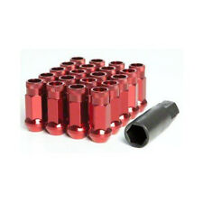Steel Nuts M12x1.5 EXTENDED WHEELS Lug Nuts Iron Red 20pcs+1key Fit HONDA CIVIC