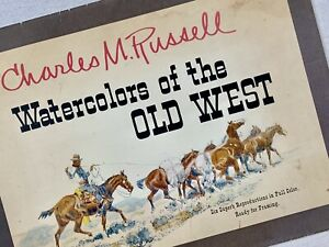 Charles Russell Watercolors of the Old West Vintage 1958 Western Cowboy Wall Art