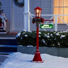 Christmas Lamp Post Outdoor Lighting Light-Up Yard Decoration Snow Blowing Santa