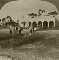 Keystone Stereoview Golf: Clearwater Country Club, From Florida Set 1920's #FL39