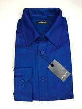 Kiton Dress Shirt Blue Cotton & Polyester Dress Shirt Size 15 32/33 Soft Shirt