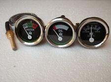 "IH / Farmall H,M,I4,I16, I19,O4,OS4,W9, Super MD,WD9 Gauges-Temp 24""+ Oil + Amp"