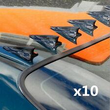 Universal 10 Pcs PP Car Shark Fin Wing Roof Spoiler Kit Vortex Generat Jet Style