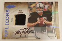 Ken Stabler 2010 Panini Absolute Memorabilia NFL Icons Auto Prime Patch #1/15