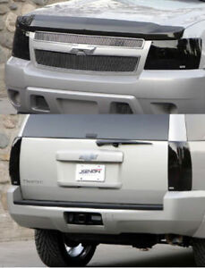 Fits 07-14 Tahoe Suburban GTS Acrylic Smoke Headlight Taillight Covers 4pc NEW