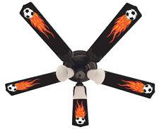 "New HOT FLAMES SOCCER BALLS SPORTS Ceiling Fan 52"""