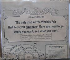 News Clipping: Large Map of the 1964 New York World's Fair presented by Shell