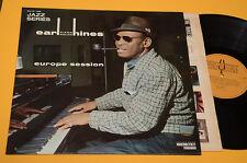 EARL HINES LP EUROPE SESSION 1°ST ORIG ITALY '70 TOP JAZZ EX+AUDIOFILI CARTONAT