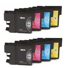 8 x LC980 Cartouches D'encre Non-FEO Alternative Pour Brother DCP-145C, DCP145C