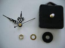 CLOCK MOVEMENT QUARTZ . SHORT SPINDLE. 50mm BLACK HANDS