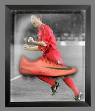 *New*Robbie Fowler Signed Red Nike Football Boot In An Acrylic Dome frame
