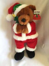 Vintage Gund Christmas Teddy Bear 1991 Kris Bingle Santa Bear W/ Tag Rare