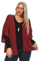 Ladies Knit Cardigan plus size 2 colors 1X, 2X, 3X