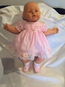 Berjusa/Berenguer Large 60cm Soft Body Baby Doll Brown Eyes No Hair