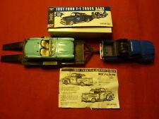 Die Cast metal F-1 Ford pickup bank / car trailer/1957 Corvette ( group of 5 )