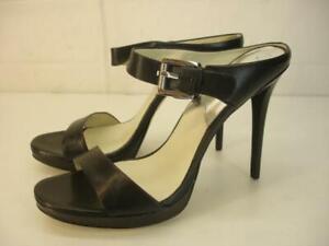 Women's 10 M Michael Kors Sandra Platform High Stiletto Heel Sandals Pump Slides
