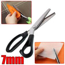 Stainless Steel Dressmaking Scissors Pinking Shears DIY Craft Zig Zag Cut Fabric
