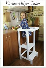 Kitchen Helper Tower - Montessori kitchen stool step kitchen decor toddler tower