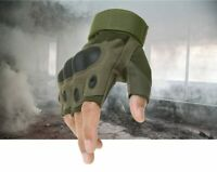 Tactical Hard Knuckle Half-finger Fingerless Protective Motorcycle Racing Gloves