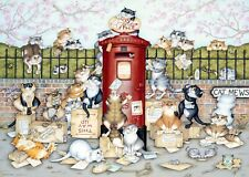 Ravensburger - 1000 PIECE JIGSAW PUZZLE - Crazy Cats Lost In The Post