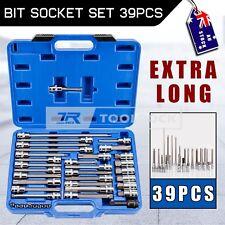 "Extra Long Bit Socket Set -39pcs 1/2"" 1/4"" Hex Torx Star Spline Allen Key S2 CrV"