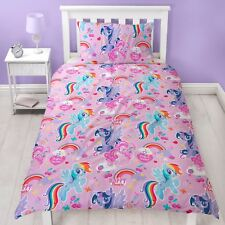 My Little Pony Crush Single Duvet Cover Set Reversible Pink Girls Bedding