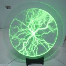 "Green 12"" Disk Plate Plasma Lamp Light Lightning Shine fr Holiday Party Club Bar"