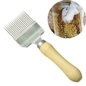 Uncapping Fork Knife European Stainless Steel Straight Needle Honey Wood Handle
