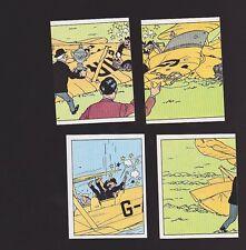 Herge Tintin Panini 1989 autocollant 4 im 57 58 59 60
