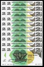 Pack 50 Pcs UNC First Banknote 2 Kina 1975 ½ BUNDLE Papua New Guinea P-1