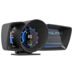 3.5'' Double Screen Car OBD2+GPS Gauge HUD Head-Up Digital Speedometer Universal