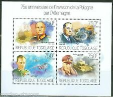 TOGO 2014 75h  ANNIVERSARY OF THE START OF WW II INVASION OF POLAND SHT  MINT NH