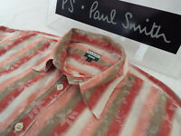 "PAUL SMITH Mens Shirt 🌍 Size L (CHEST 44"") 🌎 RRP £95+📮STRIPED FLORAL JACQUARD"