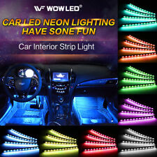 RGB LED Smart Strips Bluetooth Control Car SUV Interior Light USB Powered Lamp