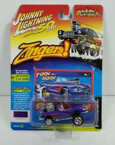 Johnny Lightning 50 Years Zingers 1958 Chevy Corvette Turn N Burn Purple