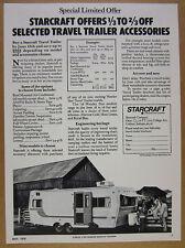 1976 Starcraft Wander Star Travel Trailer photo vintage print Ad