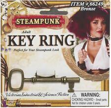 Steampunk Bronze Key Ring Victorian Fancy Dress Up Halloween Costume Accessory