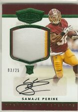 2017 Plates and Patches Samaje Perine 2-color RC Patch Auto #'d /25! Redskins
