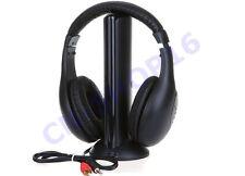 AURICULARES INALÁMBRICO 5IN1 ESCUCHAR RADIO ESTÉREO TV MP3 CD PC WIFI