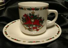 Ten Strawberry Street O Christmas Tree Holiday 1987  Cup and Saucer