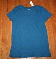 NEW NWT Womens GAP Short Sleeve Crewneck T-Shirt FAVORITE Tee Teal FREE SHIP *1F