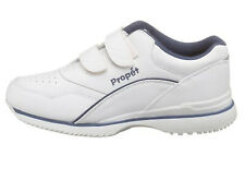 Propet Women's Tour Walker Strap Sneaker, White.Blue  11 US Wide (C,D.W)
