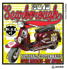 2013 SCARBOROUGH SCOOTER RALLY RUN  PATCH MODS SKINHEADS not PADDY SMITH