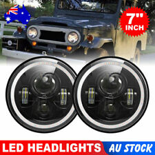 2x 7inch LED Headlights Projector RGB Ha-lo DRL Light fit for Jeep Wrangler JK