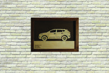 Car Wood Picture With Hyundai Tucson 2015- 3D Image Frame Home Wall Decor Art