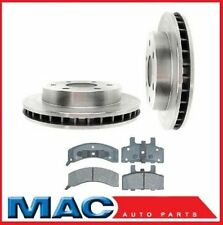 GM Trucks 4x4 6Lug Rotors 5569 (2) Front Brake Rotor Brake Rotor & Ceramic Pads