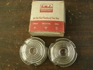 NOS OEM Ford 1959 Fairlane Park Light Lamp Lenses Lens Pair Sunliner Skyliner