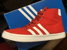 reputable site 563b0 7de96 Adidas Originals Courtvantage Mid Mens Athletic Shoes Size 11 Red White