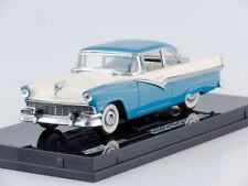 Scale model car 1:43 1956 Ford Fairlane Hard Top (Bermuda Blue/Colonial White)